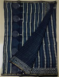 Chanderi Indigo print saree