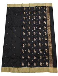 Chanderi-Sarees-Chanderi-cotton-silk-sarees-Black-Chanderi-Silk-Cotton-Saree-14102018022914