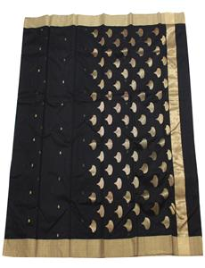 Black Kareena Chanderi Silk Cotton Saree