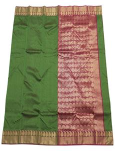 Green Afroza Chanderi Silk Cotton Saree