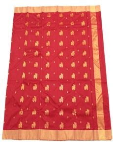Chanderi-Sarees-Chanderi-cotton-silk-sarees-Red-Chanderi-Silk-Cotton-Saree-13102018034623