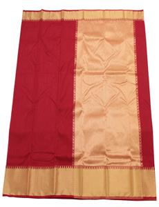 Red afroza Chanderi Silk Cotton Saree