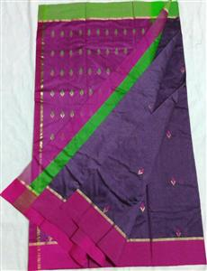 chanderi grass design saree
