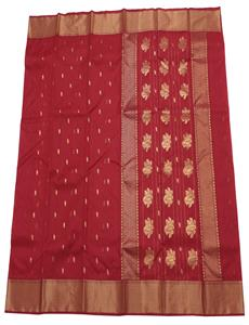 Gold Buti Red Chanderi Silk Saree