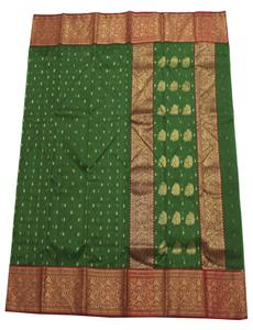 Green Tree Flowers Chanderi Silk Saree