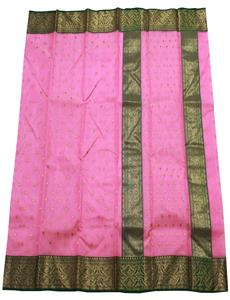 Pink Pure Chanderi Silk Saree