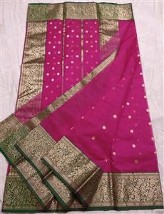 Rani Chanderi Silk Saree