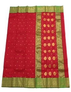 Red Green Chanderi Silk Saree