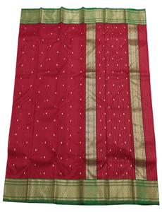 Red Small Buti Chanderi Silk Saree