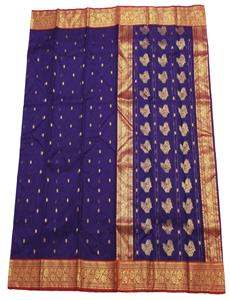 Tree Flowers Jamuni Chanderi Silk Saree